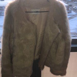 Off white fur coat